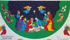 Fabric Traditions Nativity Tree Skirt Quilted DIY Craft Christmas Table Topper 2
