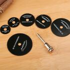 6PC HSS Rotary Tool Circular Saw Blade Wood Cutting Discs + 1 Mandrel for Power