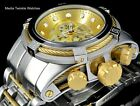 Invicta Reserve Bolt ZEUS Swiss Quart Gold Dial Gold Tone Cable Bracelet Watch