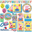Peppa Pig Birthday Party Tableware Decorations Supplies