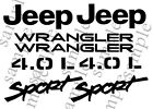 1997-2002 Jeep Wrangler Sport 4.0l Replacement Fender Decals Sticker Tj 1 Set