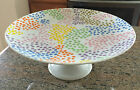 Rare & Retired! Fitz & Floyd Confetti Footed Cake Plate! Wonderful & Whimsical!