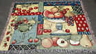 Fruit Collage Cherry/Strawberry/Apple/Pear Tapestry Afghan Throw ~ Susan Winget