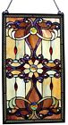 Stained Glass Panel Window Suncatcher Tiffany Style Mission Craftsman Victorian