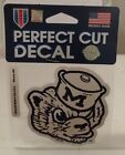 MICHIGAN WOLVERINES RETROCOLOR LOGO WINCRAFT 4X4 DECAL STICKER FREE SHIP