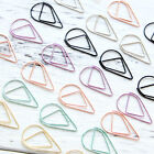Metal Material Water Drop Paper Clips Mark Bookmark Stationery Mark PaperClips