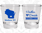 Wedding Party Shot Glasses Funny Shot Glass 148 Wisconsin Wedding Favors