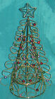 ARTIFICIAL METAL GOLD TONE SPIRAL WIRE TABLE TOP CHRISTMAS TREE WITH STAR-BEADS