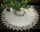 32 X large Doily EARTH FEATHER LACE Neutral Tone Table Topper Scarf