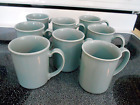 Corelle Blue Mugs - Coordinate with Blue Lily Pattern - Qty 8