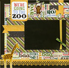Were Going To The Zoo 12x12 Premade Scrapbook Page