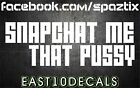 Snap Chat me that Windshield Banner 8X36 JDM Honda Diesel 2500 Decal sticker