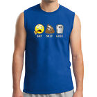 Emoji Eat Shitt Die Men's Sleeveless Funny Life Cycle RIP Muscle Tee - 1548C