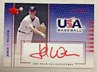 JERED WEAVER 2003 UPPER DECK USA BASEBALL CERTIFIED AUTHENTIC AUTOGRAPH #631 750