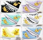 Anime Fashion Fans Canvas Shoes Pocket Monster Pikachu Sneaker 7color 2017 NNNN