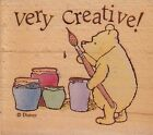 pooh very creative all night media Wood Mounted Rubber Stamp 1 1 2 x 1 1 2