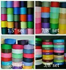 wholesale 34 yards each 3 85 87 815 grosgrain ribbon lot solid hairbow