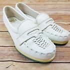 Nurse Mates Vtg Sneakers Shoes 5 M White Leather Made in USA Nursing Medical