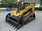 Caterpillar Skid Steer Attachment 84 Root Rake Grapple with Teeth Free Ship