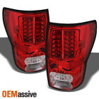 Fits 2007 2013 Tundra Red Clear LED Tail Lights Lamps LH+RH 2008 2009 2010 2011