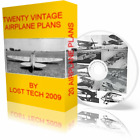 BUILD VINTAGE ULTRALIGHT AIRCRAFT 20 AIRPLANE PLANS ON CD