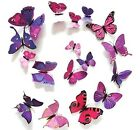 12 PCS 3D Colorful Butterfly Wall Stickers Decal Vinyl Colors Decor Home Art