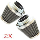 2x 50mm Intake Refit Air Filter Cleaner Clamp on Fit ATV 50cc Motorcycle Scooter