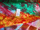 100 Silk Fabric Lightweight Flowing Bright Bold Colors 375 YDS 45W