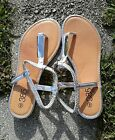 Women's 385 Fifth Silver with Rhinestone,Open Toe Gladiators Sandals size 9