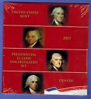 2007 D Presidential 1 coin uncirculated set SEALED WASHINGTON JEFFERSON ADAMS