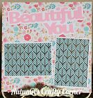 BEAUTIFUL YOU Basic Premade Scrapbook Page 12x12 Layout for Album 1003