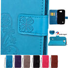 Lucky Clover Leather Flip Stand Wallet Card Holder Case Cover For Huawei HTC