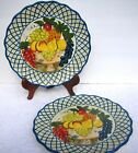 2 Raymond Waites Studio Certified International Dinner Plate Fruit in Compote