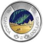 Canada 2017 Glow In The Dark Toonie 2 Coin From Roll UNC Dance Of The Spirits