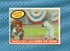 1959 TOPPS #461 MICKEY MANTLE MANTLE HITS 42ND HOMER FOR CROWN MID GRADE