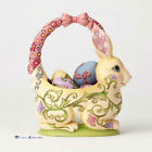 Jim Shore Easter Bunny Basket  with 4 Eggs 13th Edition 4058987
