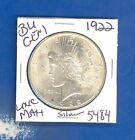 1922 P BU GEM PEACE SILVER DOLLAR COIN 5484 UNC MS+++ US MINTRARE