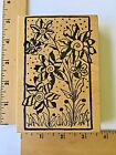 Magenta Rubber Stamps Flowers in a Rectangle Frame P0218 NEW