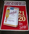 Rare Vintage Metal Embossed Chesterfield Cigarette Sign