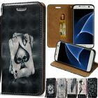3D Printed Flip Leather Wallet Card Stand Phone Case Cover For Various Phone