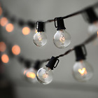 Lampat String Lights, Vintage Backyard Patio Lights with 25 Clear Globe Bulbs-UL