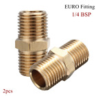 2x Brass 1/4 BSP Tapper Thread Male Air Line Hose Connector Airline Fitting Tool