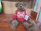 Boyds Bears BIFF GRIZZWOOD bear red sweater Archive Collection plush 13