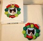 2010 Hallmark Keepsake Pretty Kitty Christmas Photo Holder Ornament