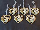 6 new NATIVITY HEART Christmas ORNAMENTS Jesus more ORNAMENTS IN OUR STORE