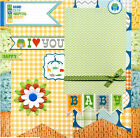 I Love You Premade Baby Scrapbook Page
