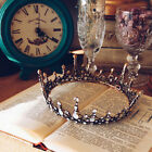 Baroque Bridal Jewelry Vintage Crystal Pearl Queen Crown Tiaras Headband USA