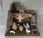 Nativity Set Christmas Decor Wood Jesus Joseph Mary Signed Italy Italian Old