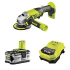 Ryobi R18AG-0 ONE+ Angle Grinder 18V with Battery and Charger