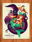 TIN SIGN The Little Mermaid Disney Vintage Ride Art Painting Movie Poster